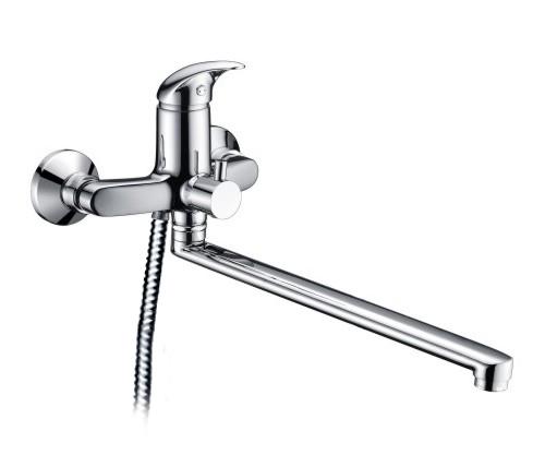 Смеситель WasserKRAFT ISEN 2602L для ванны и душа с длинным поворотным изливом 35 см, хром