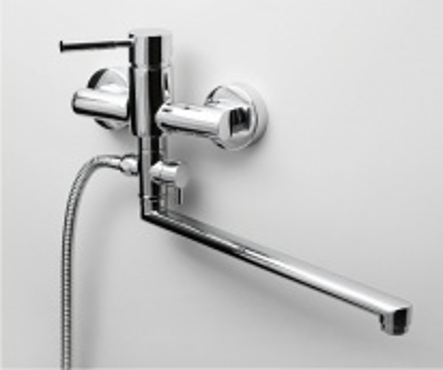 Смеситель WasserKRAFT MAIN 4102L для ванны и душа с длинным поворотным изливом 35 см, хром
