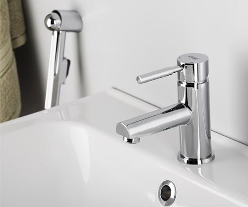 Смеситель WasserKRAFT MAIN 4108 для раковины с гигиеническим душем, хром