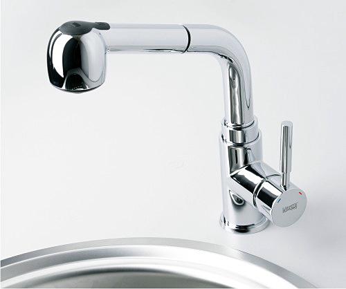 Смеситель WasserKRAFT MAIN 4166 для кухни с выдвижным изливом, хром