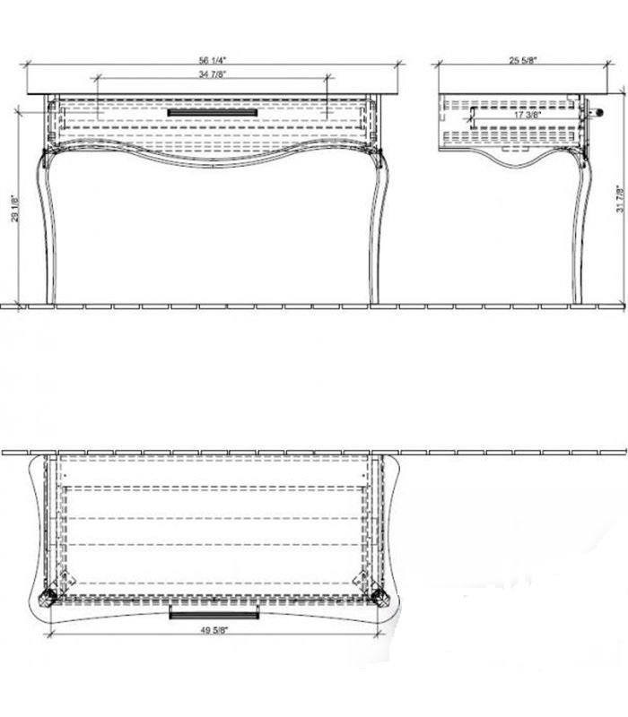 Туалетный столик Villeroy&Boch Amadea Royal A652 00BK