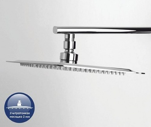 Душевая система WasserKRAFT A042, верхний душ 300*200 мм, хром