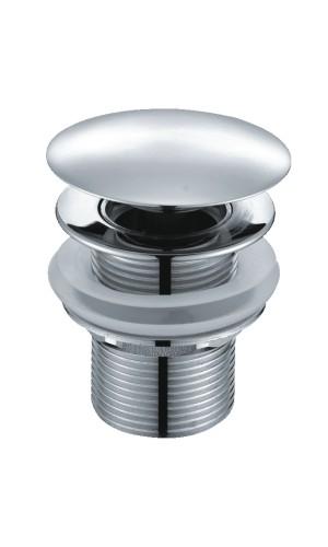 Донный клапан Push-up WasserKRAFT A024, для раковины с переливом, хром
