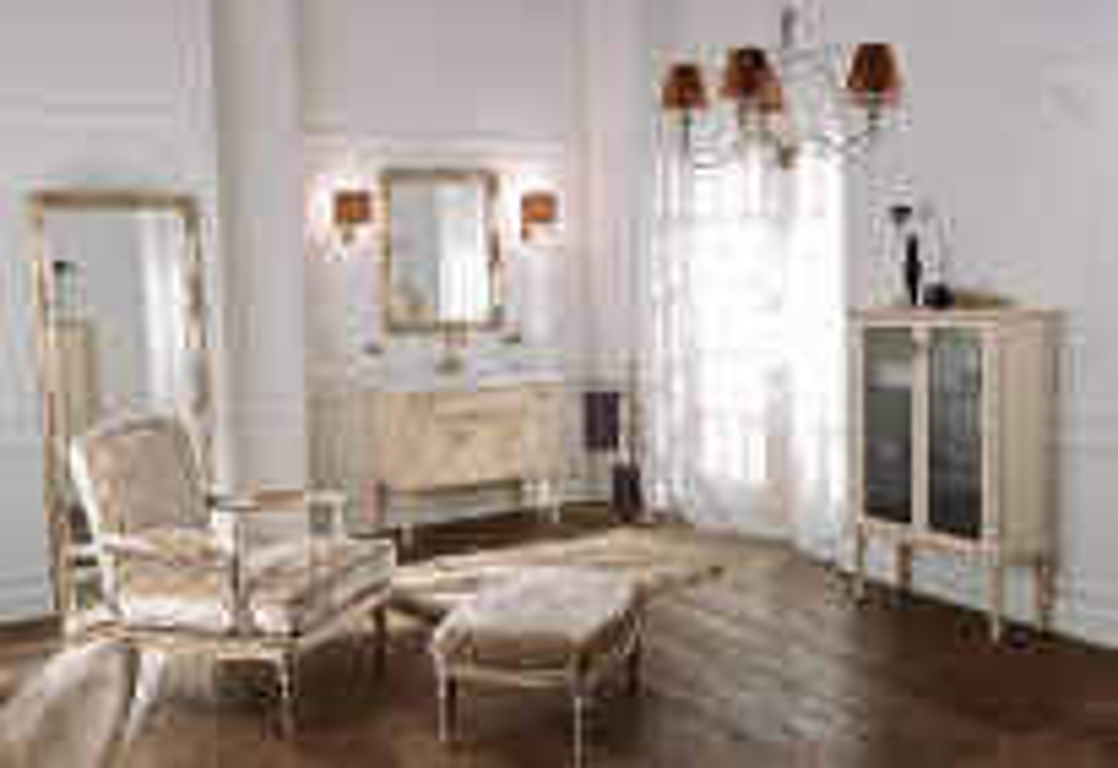 Комплект мебели Labor Legno MILADY Composizione MIL 106, бежевый антиквариат с декором/бронза, 105 см