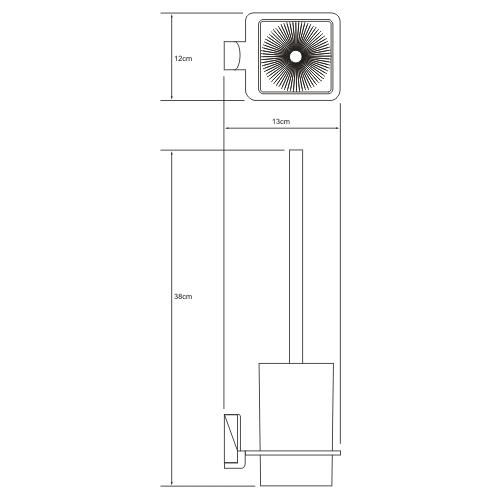 Ершик подвесной WasserKRAFT Exter К-5227