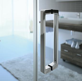 Душевой уголок Huppe Classic 2 C20103 069 321, 90*90*190 см, стекло прозрачное, профиль блестящее серебро