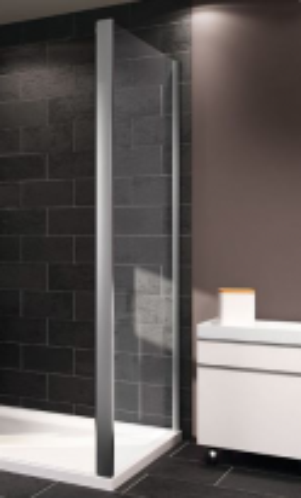 Боковая стенка для раздвижной двери Huppe Classic 2 C20505 069 321, 90*190 см, стекло прозрачное, профиль блестящее серебро