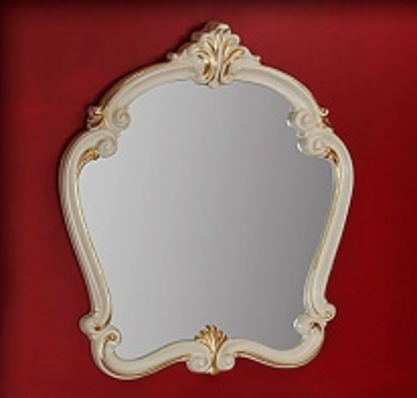 Зеркало фигурное Migliore Bella ML.BLL-SP454.AV.DO, 95*107*6 см, цвет белый/золото
