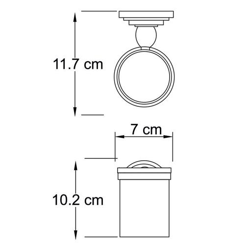 Стакан стеклянный WasserKRAFT Isar К-7328