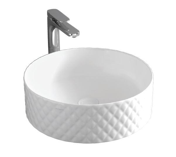 Раковина ArtCeram Rombo OSL009 01; 00, накладная, цвет - белый глянцевый, 44 х 44 х 14,5 см