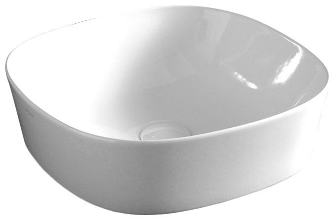 Раковина ArtCeram Ghost GHL001 01; 00, накладная, цвет - белый глянцевый, 42 х 42 х 12.5 см
