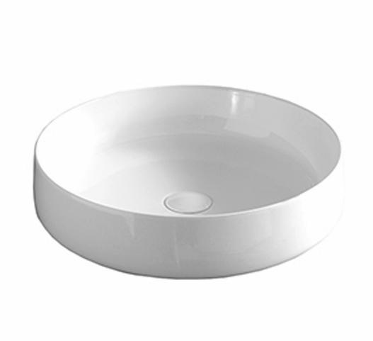 Раковина ArtCeram Cognac COL002 01; 00, накладная, цвет - белый глянцевый, 48 х 48 х 12,5 см