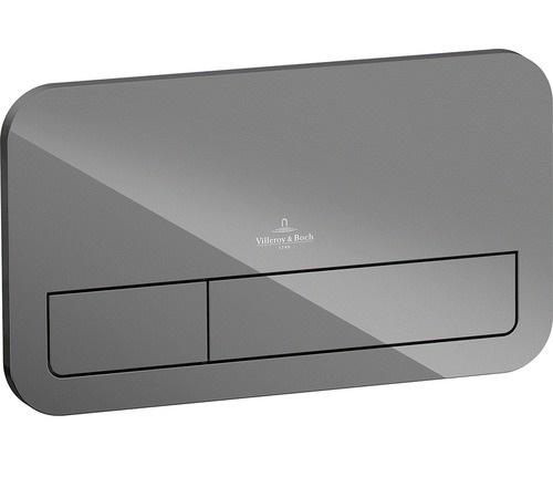 Клавиша двойная смывная стеклянная Villeroy&Boch M200 9224 00RA серый