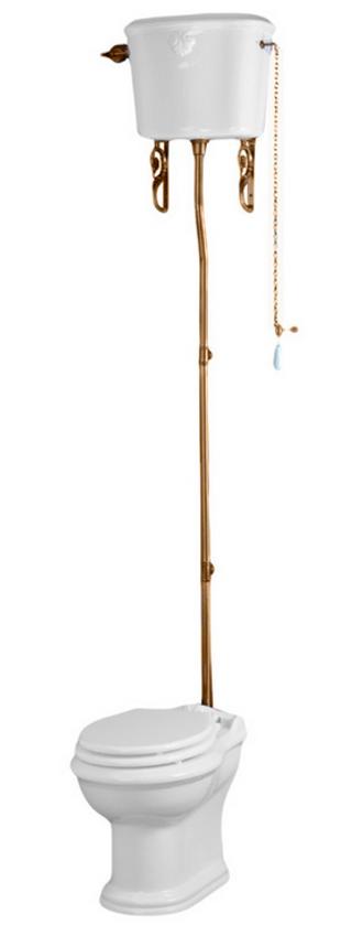 Унитаз Migliore Impero напольный ML.IMP-25.311.BI с высоким бачком ML.IMP-25.328.BI