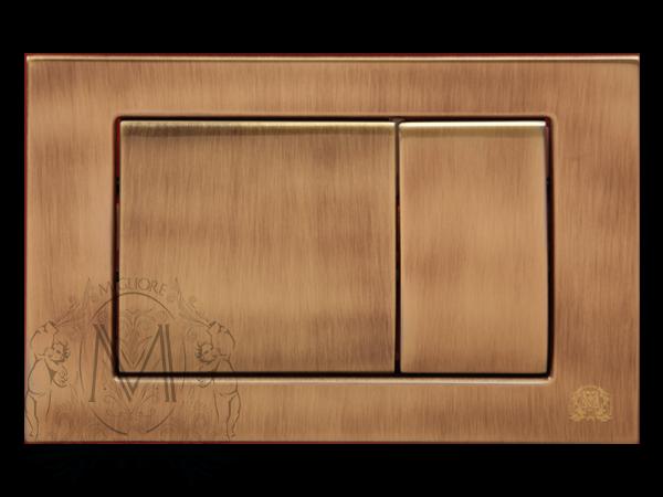 Клавиша смыва двойная для унитаза Migliore ML.PLC-27.051, бронза
