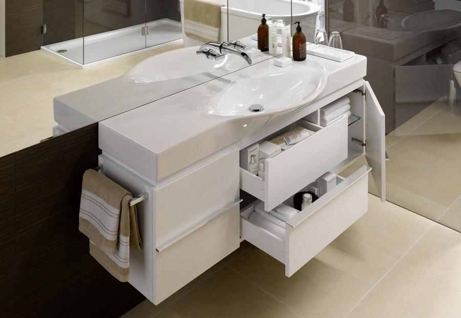 Дизайн тумбы для раковины