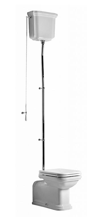 Унитаз Kerasan Waldorf 411601bi с бачком 418001bi с высокой трубой