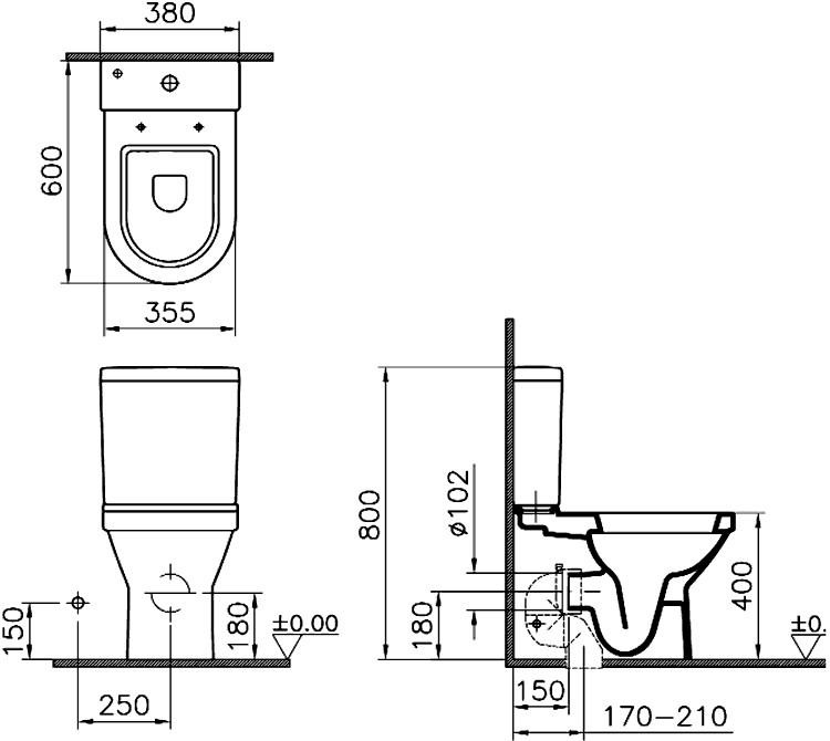 Унитаз Vitra S50 9798B003-0227