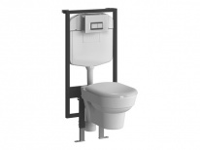 Комплект 4 в 1: Инсталляция + унитаз Vitra FORM 9812B003-7203 с сиденьем микролифт