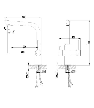 Смеситель Lemark Comfort LM3060C для кухонной мойки