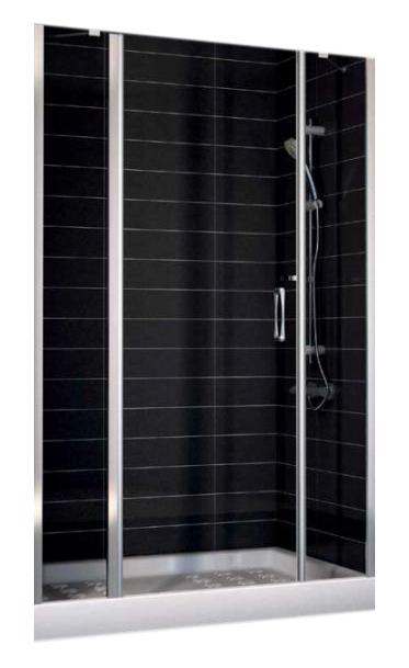 Дверь распашная, одностворчатая Vegas EP-2F 0165, с двумя неподвижными сегментами, 165*190 см