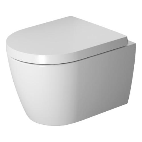 Унитаз Duravit Me by Starck Compact Rimless 2530090000, подвесной, с крышкой-сиденьем SoftClose 0020190000