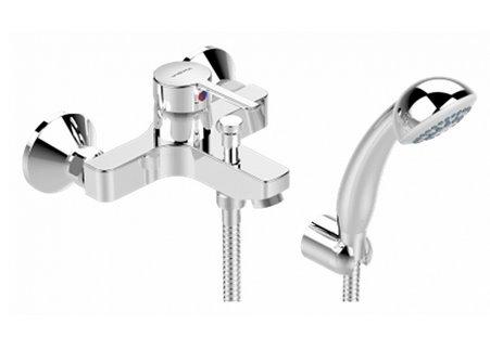 Смеситель Vidima Логик (Logik) BA279AA для ванны и душа с душевым гарнитуром, хром