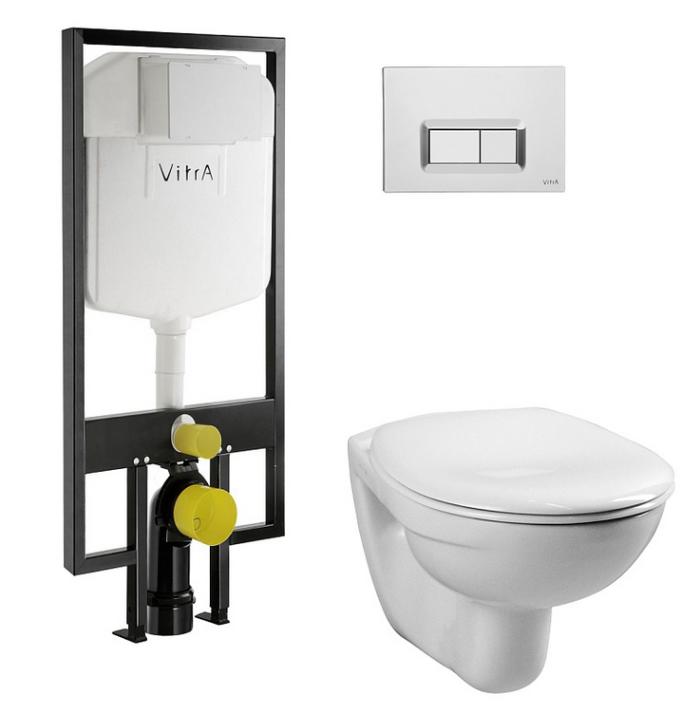 Комплект 4 в 1: Инсталляция + унитаз VitrA Normus 9773B003-7200 с сиденьем SoftClose