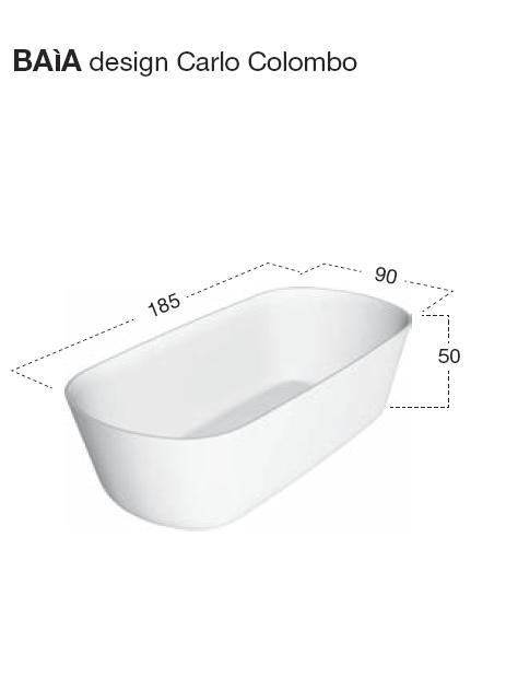 Ванна Antonio Lupi Baia 185*90 см