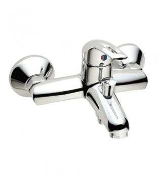 Смеситель Vidima СЕВА ЛУП (Seva Loop) BA016AA для ванны и душа с душевым гарнитуром, хром