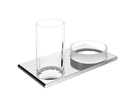 Двойной держатель стакана и чаши для мелочей Keuco Edition 400 11554 019000