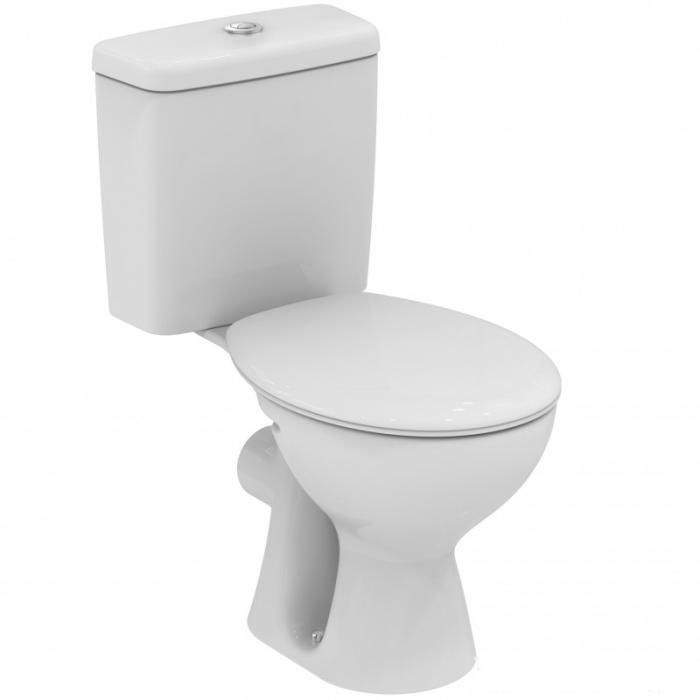 Унитаз Vidima СЕВА ДУО (BOX) (Seva Duo) W917161 напольный, с сиденьем standart, цвет - белый