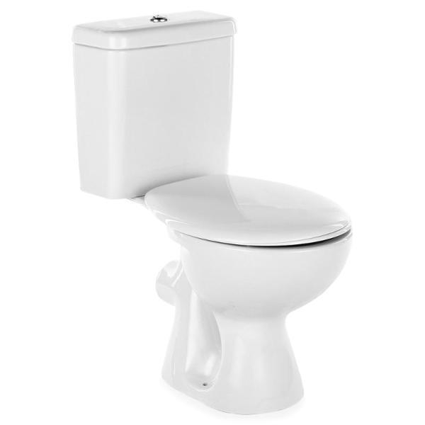 Унитаз Vidima СЕВА ДУО (BOX) (Seva Duo) W917361 напольный, с сиденьем standart пластик, цвет - белый