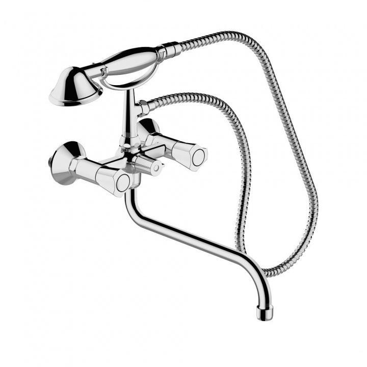Смеситель Bravat Duo F6133186CP-LB-RUS для ванны