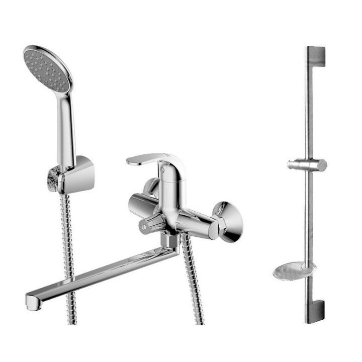 Смеситель Bravat Fit Cet F00416C для ванны c душевой стойкой