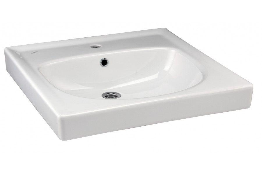 Раковина Vidima СЕВА МИКС (BOX) (Seva Mix) W403861, на стиральную машину (кувшинка), белая, 60*60 см
