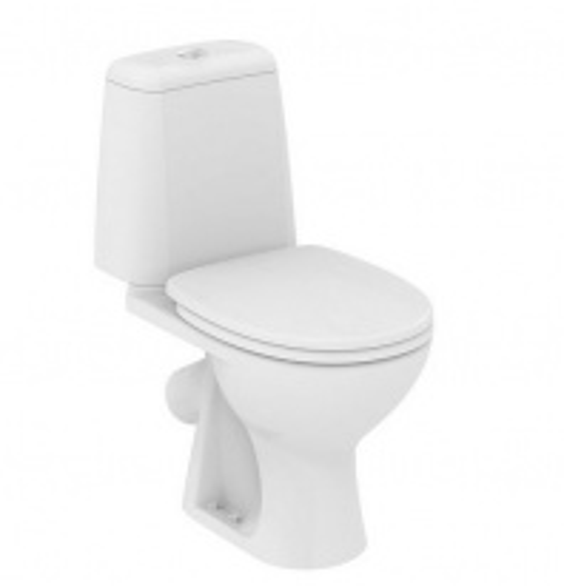 Унитаз Vidima СИРИУС ЭЛЕГАНС (BOX) (Sirius Elegance) W917561 напольный, косой выпуск, сиденье стандарт, цвет - белый