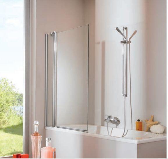 Шторка для ванны Huppe Design pure 512501 реверсивная