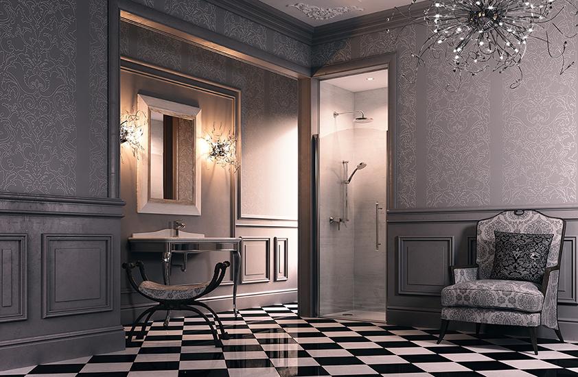Распашная дверь Huppe Design victorian DV0102 90 см