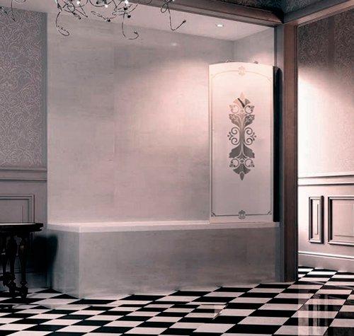 Шторка для ванны Huppe Design victorian DV1501 распашная, крепление справа