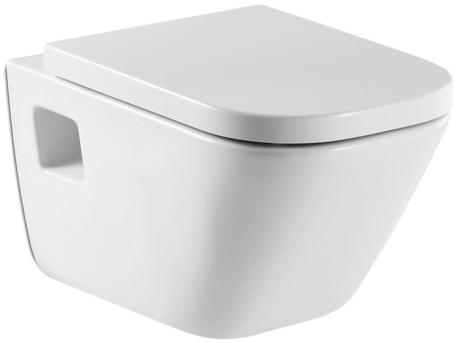 Комплект 5 в 1: Инсталляция Sanit Ineo Plus+унитаз подвесной Roca Gap+сиденье с микролифтом