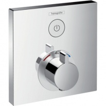 Смеситель Hansgrohe ShowerSelect 15762000 для душа термостатический с запорным вентилем