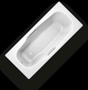 Ванна стальная BLB Atlantica HG B80J 180x80 см, с отв. для ручек, с шумоизоляцией