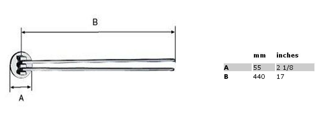 Вешалка-вертушка для полотенец Smedbo Loft LK326