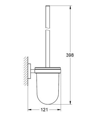 Ерш для туалета Grohe Essentials 40374001