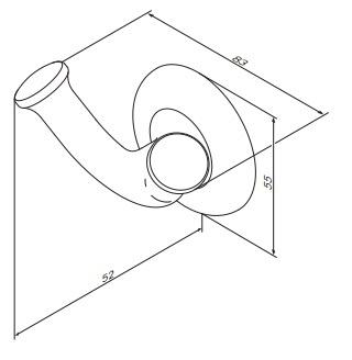 Крючок для полотенец Am.Pm Like A8035600 двойной