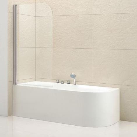 Шторка для ванны Cezares ECO-V-1-80/140-Cr, 80х140 см