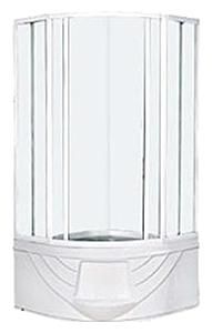 Душевой уголок Aqualux YMJ-2010-13, 100 x 193 x 100 см, стекло прозрачное