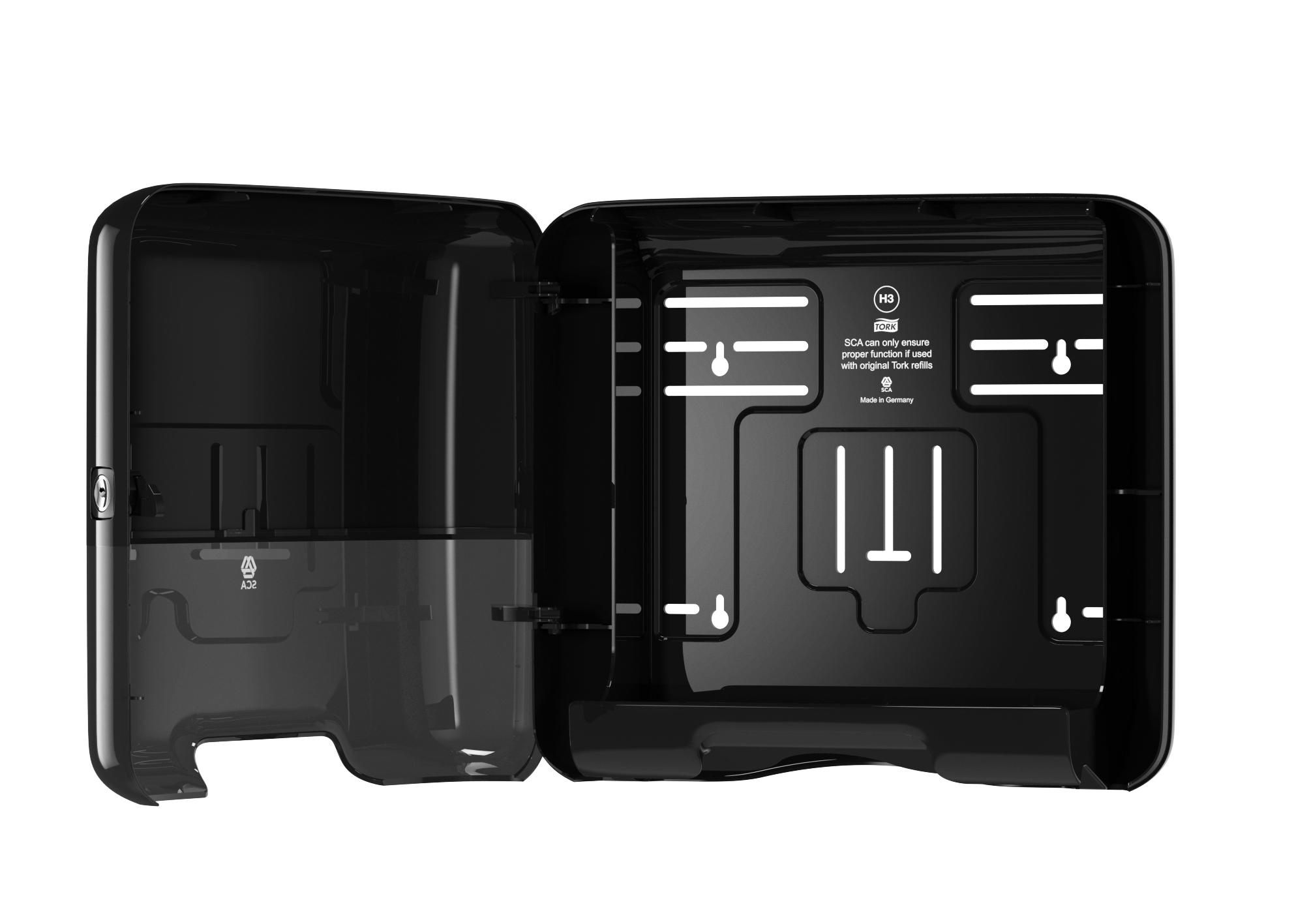 Диспенсер-мини для полотенец Tork Singlefold 553108-60, черный