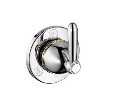 Запорный/переключающий вентиль Axor Carlton 17920090, с рычаговой рукояткой, СМ, ¾'